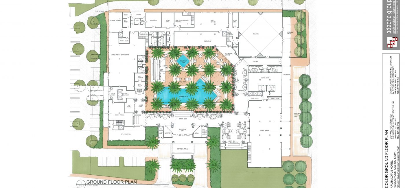 A02.1 Ground Floor Plan-Color
